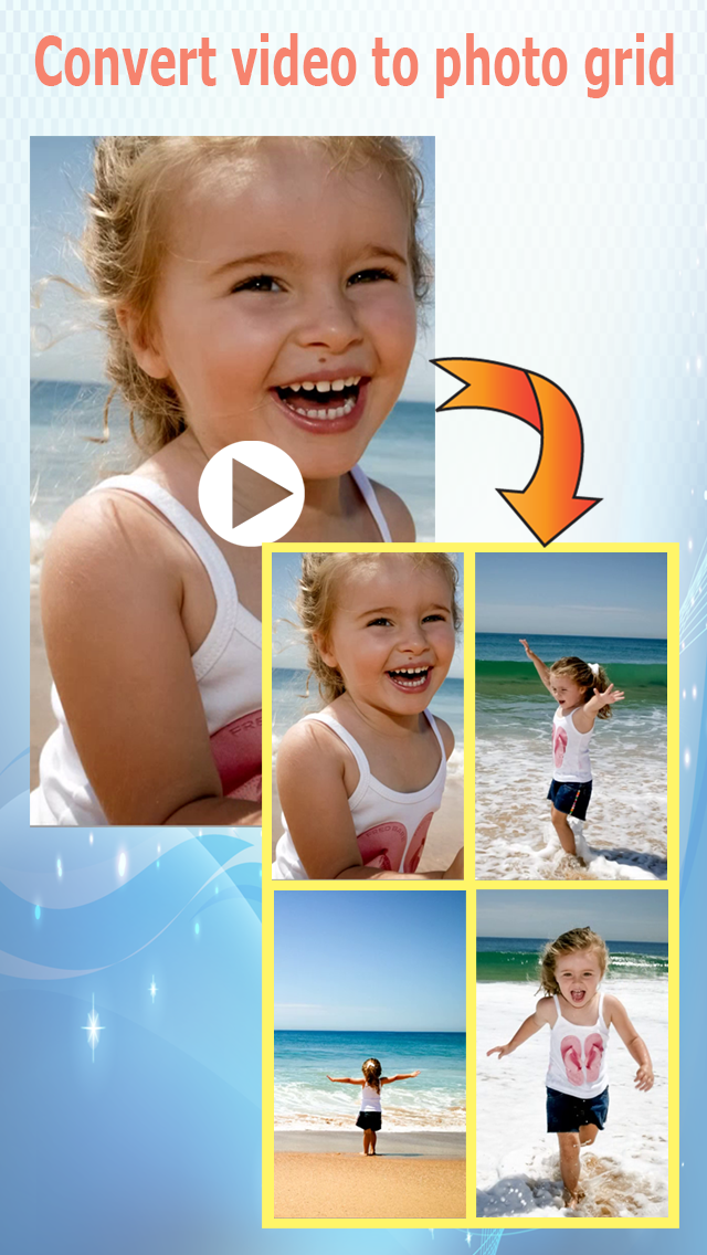 convert video to photo grid